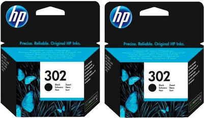 HP »hp 302, original, F6U66AE, schwarz« Tintenpatrone (Set, 2-tlg)