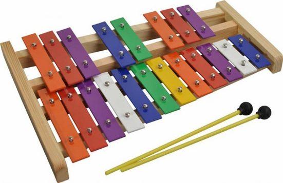 Steinbach Glockenspiel »Steinbach Glockenspiel 20 bunte Klangplatten chromatisch«