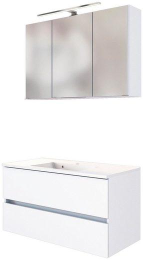 HELD MÖBEL Waschtisch-Set »Baabe«, (Set, 2-St), Breite 100 cm, Softclose-Funktion