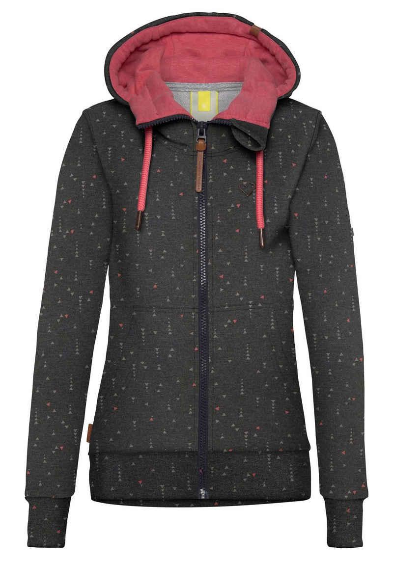 Alife & Kickin Sweatshirt »YasminAK« bedruckter Hoodie mit Kontrast-Details