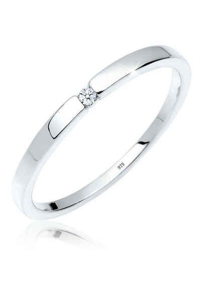 Diamore Diamantring »Verlobungsring Klassiker Diamant (0.015 ct)Silber«, Solitär-Ring