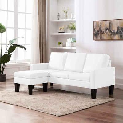 vidaXL Loungesofa »vidaXL Sofa 3er Hocker Kunstleder Couch Polstersofa Loungesofa mehrere Auswahl«