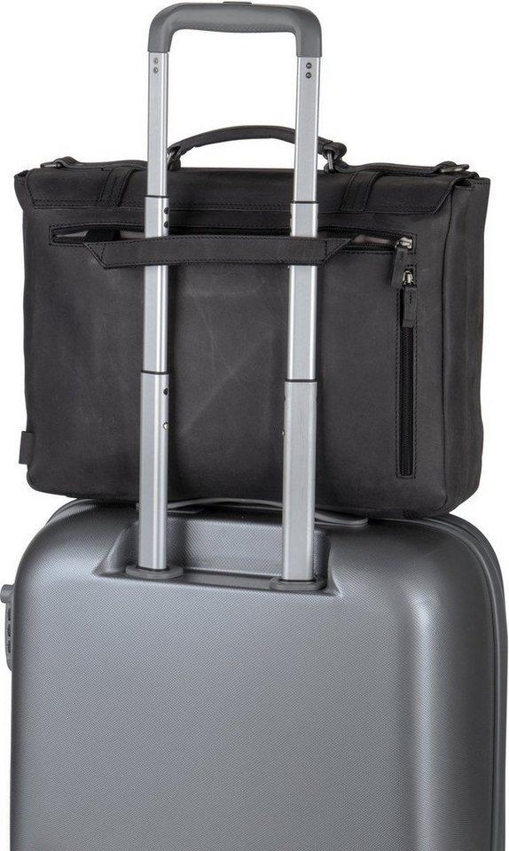 Jost Notebooktasche / Tablet »Salo 4653 Businesstasche«   Taschen > Business Taschen > Sonstige Businesstaschen   Schwarz   Leder - Polyester - Fleece   Jost