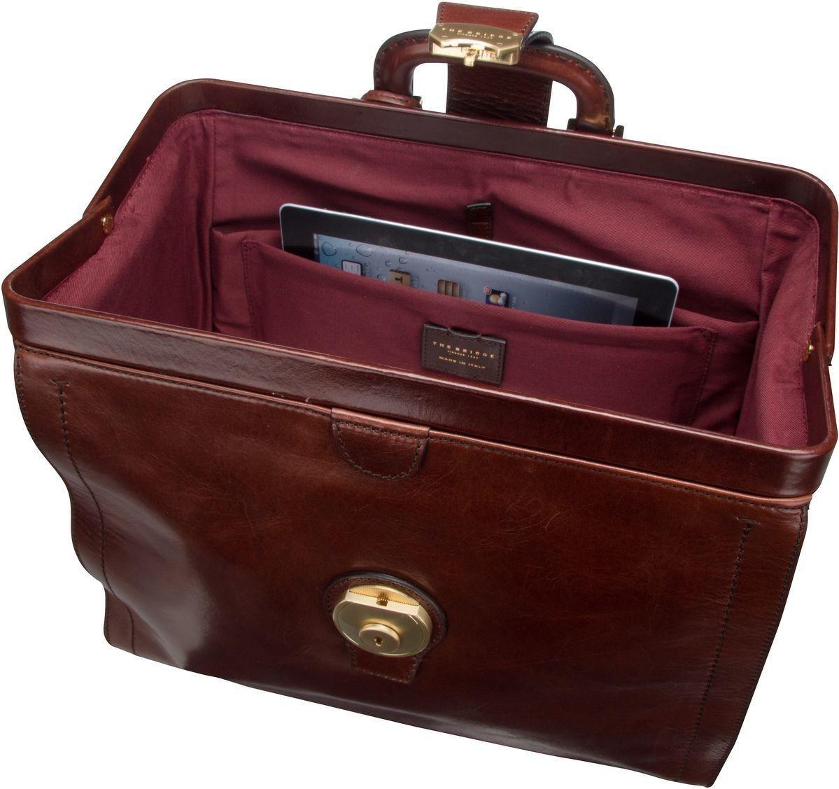 THE BRIDGE Handtasche »Capalbio Arzttasche 2058« | Taschen > Business Taschen | Braun | Metall | THE BRIDGE