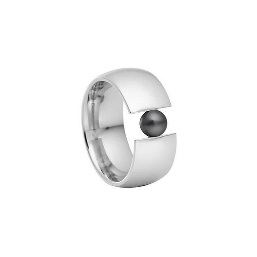 Heideman Perlenring »Globus Xl Poliert«, Damenring mit Swarovski Perle