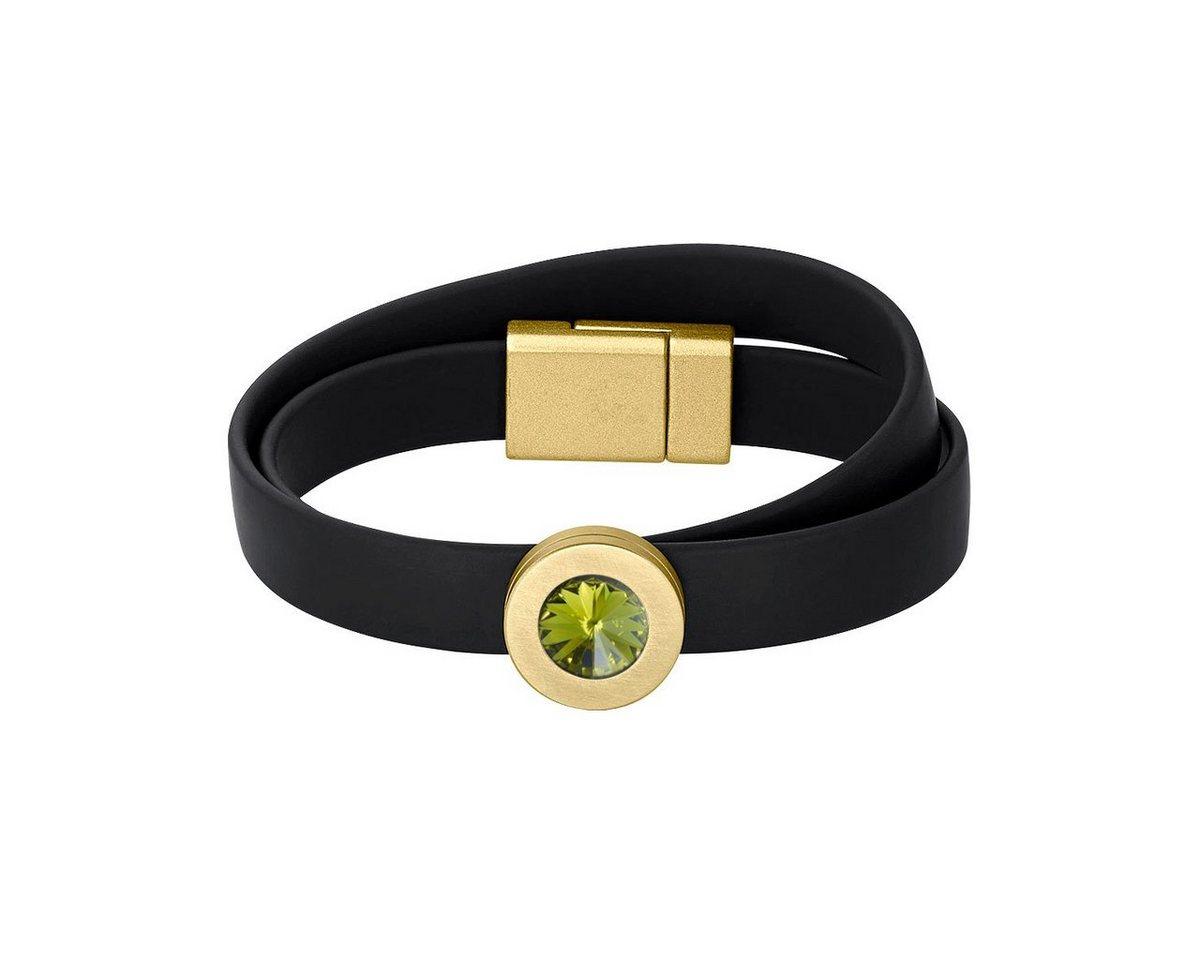 Heideman Armband »Colori Schwarz Vergoldet« mit Stein wechselbar   Schmuck > Armbänder > Goldarmbänder   Grün   Heideman
