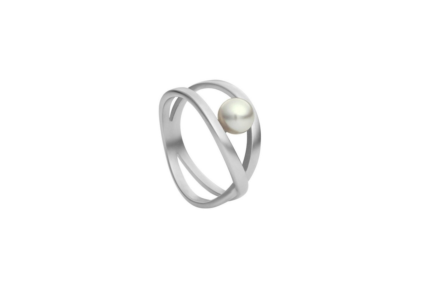 Heideman Perlenring »Facilis Glanzmatt« Damenring mit Swarovski Perle   Schmuck > Ringe > Perlenringe   Grau   Heideman