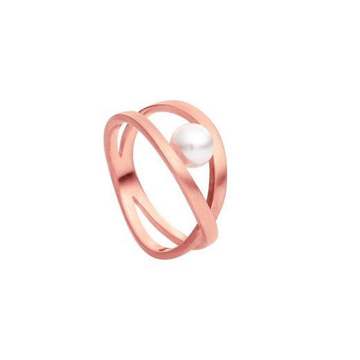 Heideman Fingerring »Facilis Rosevergoldet« (1-tlg), Damenring für Frauen mit Perle