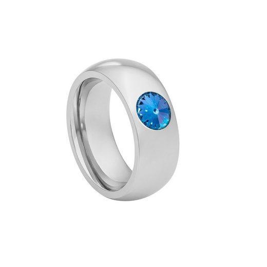 Heideman Fingerring »Coma 8 Poliert« Damenring mit Swarovski Stein weiss oder farbig