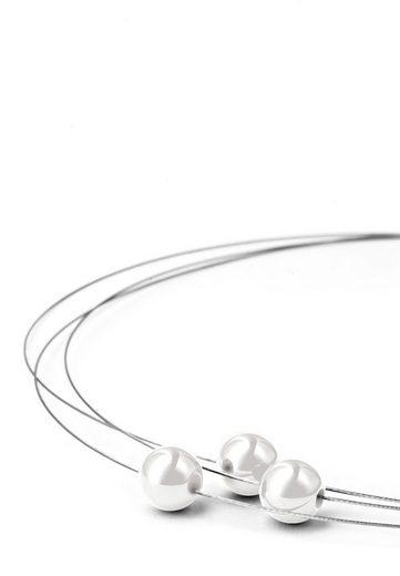 Heideman Kette mit Anhänger »Florere III Poliert«, mit Swarovski Perlen weiß oder farbig
