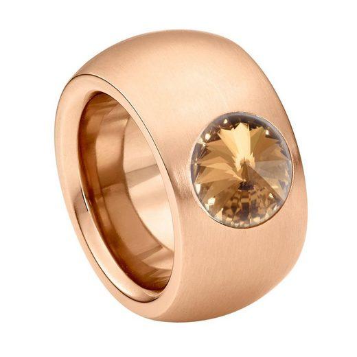 Heideman Fingerring »Coma 14 Roségold« Damenring mit Swarovski Stein weiss oder farbig