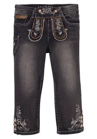 MARJO Tautinio stiliaus džinsai 3/4 ilgio Mo...