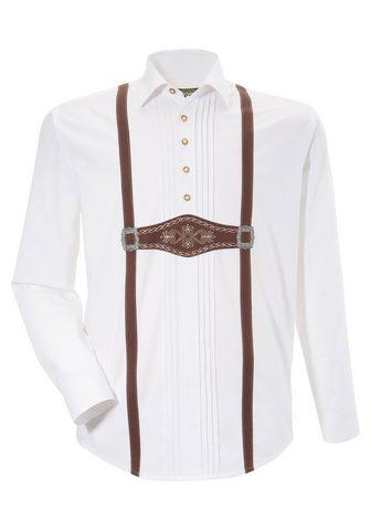OS-TRACHTEN Tautinio stiliaus marškiniai su Lederh...