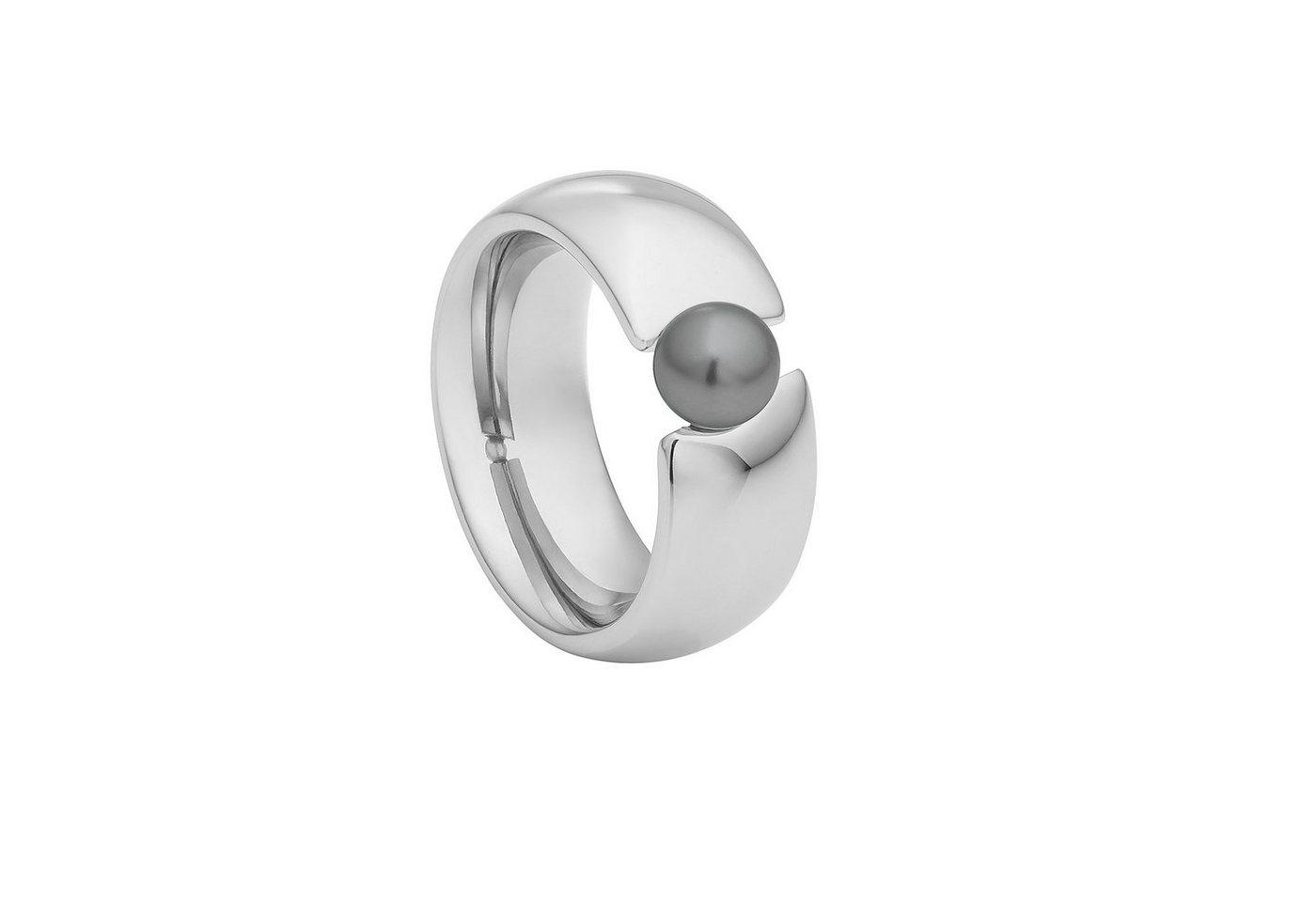 Heideman Perlenring »Baccatus Poliert« Spannring mit Swarovski Perle   Schmuck > Ringe > Perlenringe   Schwarz   Heideman
