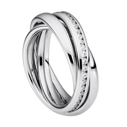 Heideman Fingerring »Trini Poliert«, Rollring 3er ring poliert Wickelring damen