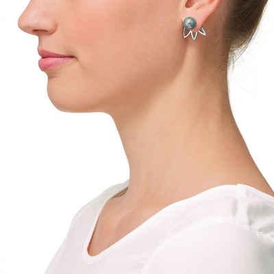 OHRRINGE Hängende Ohrringe Edelstahl mit Steinchen elegant VERSPIELT LANG  NEU