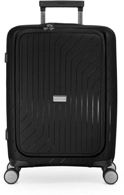 Hauptstadtkoffer Hartschalen-Trolley »TXL, schwarz, 55 cm«, 4 Rollen, mit gepolstertem Laptopfach   Taschen > Koffer & Trolleys > Trolleys   hauptstadtkoffer