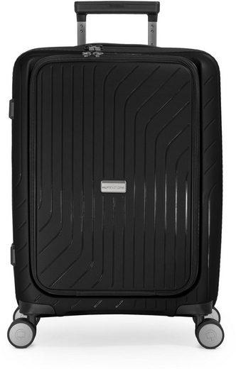 Hauptstadtkoffer Hartschalen-Trolley »TXL, schwarz, 55 cm«, 4 Rollen, mit gepolstertem Laptopfach