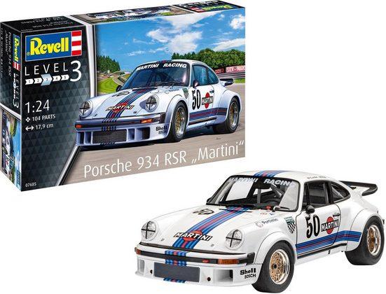 "Revell® Modellbausatz »Porsche 934 RSR ""Martini""«, Maßstab 1:24"