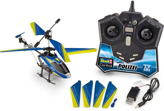 Revell® RC-Helikopter »Revell® control, Polizei, 2,4 GHz«, mit LED Beleuchtungseffekten
