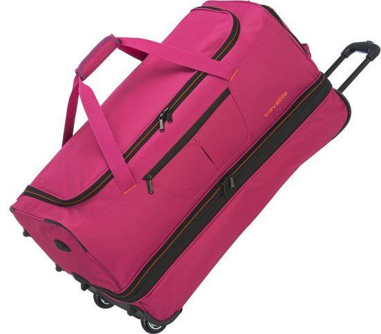 travelite Reisetasche »Basics, 70 cm, pink«, mit Volumenerweiterung