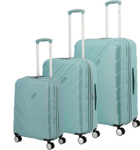 travelite Trolleyset »Kalisto, aqua«, 4 Rollen, (3 tlg), mit Volumenerweiterung; aus der »freundin by travelite« Kollektion