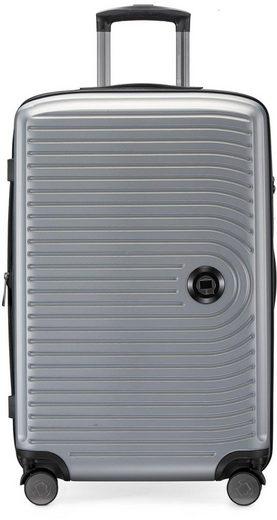Hauptstadtkoffer Hartschalen-Trolley »Mitte, silberfarben, 68 cm«, 4 Rollen