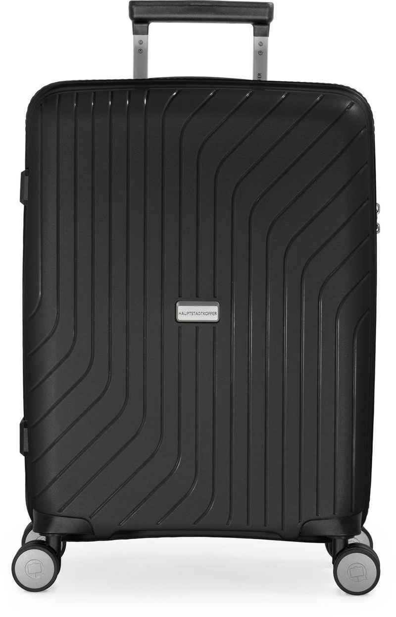 Hauptstadtkoffer Hartschalen-Trolley »TXL, schwarz, 55 cm«, 4 Rollen