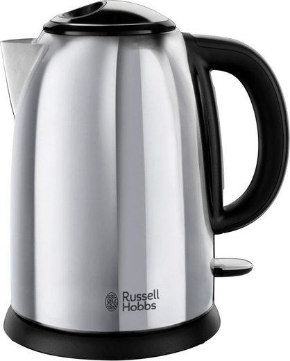 RUSSELL HOBBS Wasserkocher Russell Hobbs Victory Wasserkocher 23930-70, 2400 Watt, Edelastahl poliert, 1,7 l, 2400 W