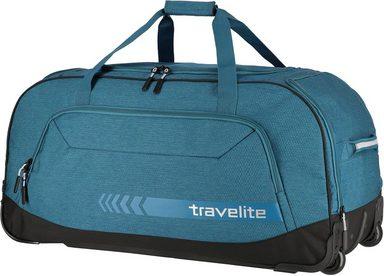 travelite Reisetasche »Kick Off XL, 77 cm, petrol«, mit Trolleyfunktion