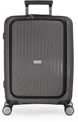 Hauptstadtkoffer Hartschalen-Trolley »TXL, titan, 55 cm«, 4 Rollen, mit gepolstertem Laptopfach