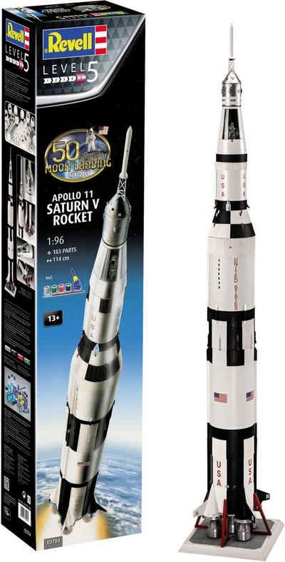 Revell® Modellbausatz »Apollo 11 Saturn V Rocket«, Maßstab 1:96, Jubiläumsset mit Basis-Zubehör; Made in Europe
