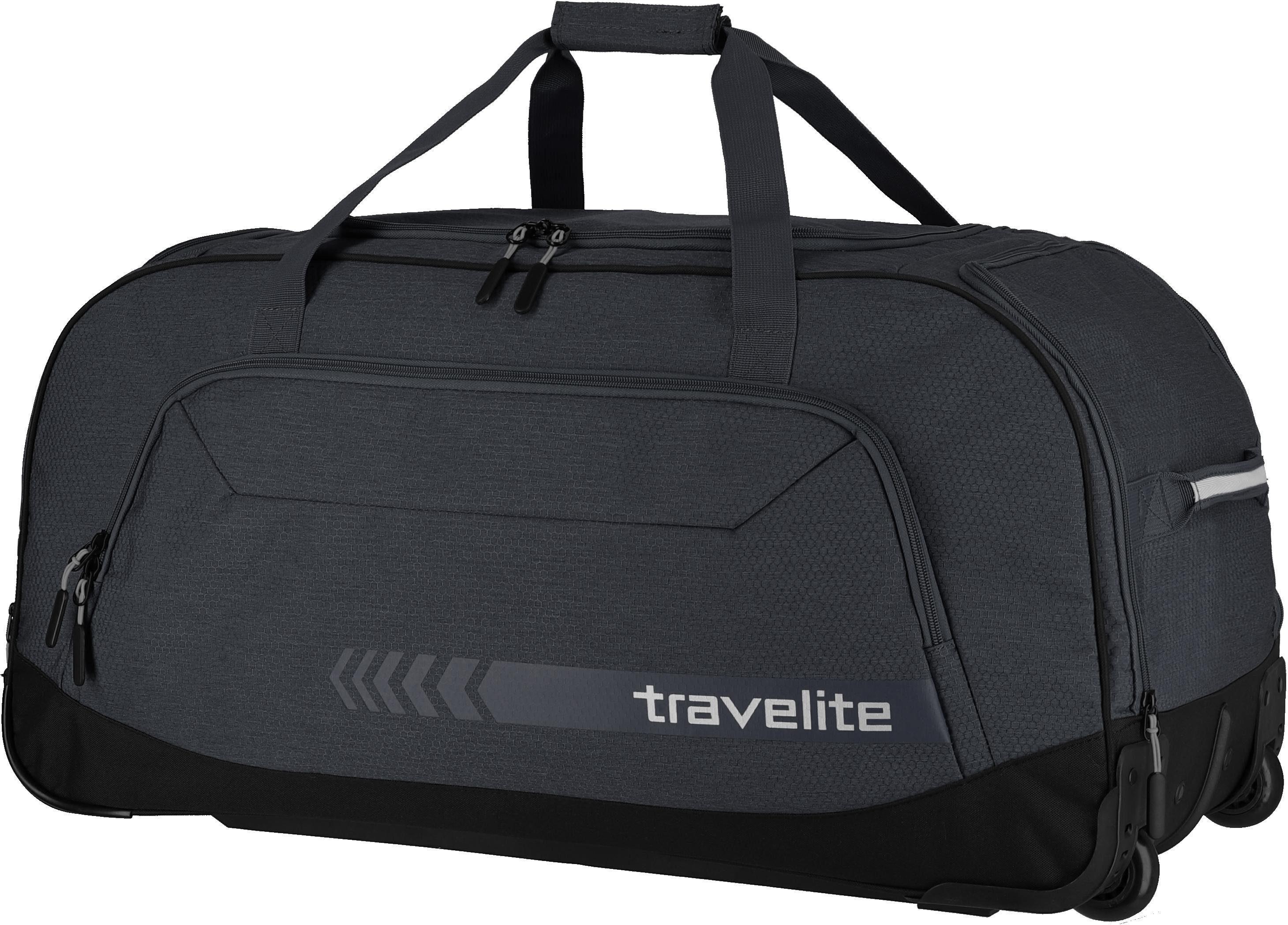 travelite Reisetasche »Kick Off XL, 77 cm, anthrazit«, mit Trolleyfunktion
