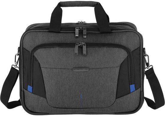 travelite Flugumhänger »Businesstasche @work, 45 cm, anthrazit«, mit gepolstertem 15,6-Zoll Laptopfach