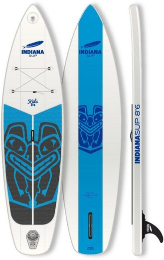 Indiana Paddle & Surf Inflatable SUP-Board »Indiana 8'6 Kids Inflatable«, Longboard, (Set)