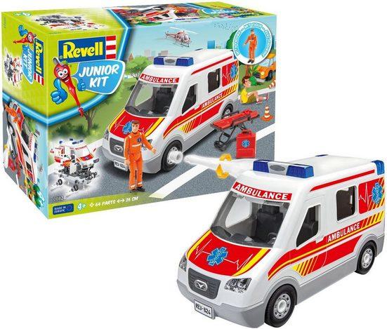 Revell® Modellbausatz »Revell Junior Kit, Rettungswagen«, Maßstab 1:20, mit Figur
