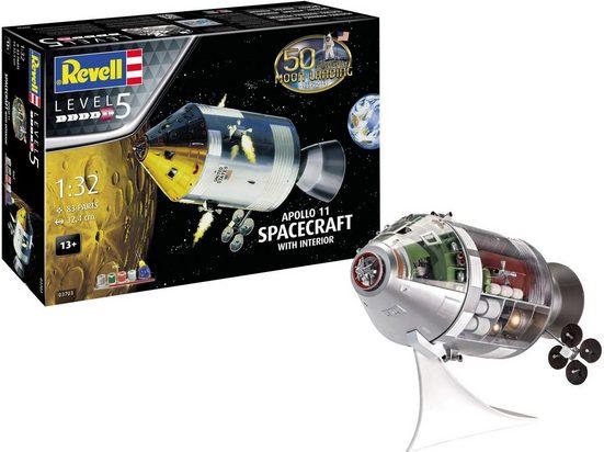 Revell® Modellbausatz »Apollo 11 Spacecraft«, Maßstab 1:32, Jubiläumsset mit Basis-Zubehör
