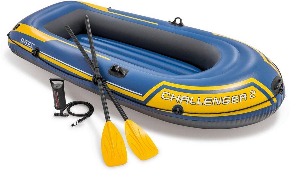 intex schlauchboot challenger 2 set mit 2 paddeln. Black Bedroom Furniture Sets. Home Design Ideas