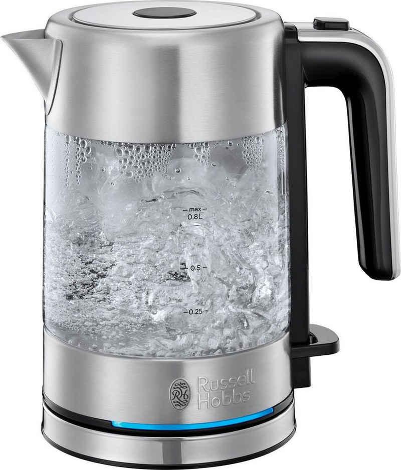 RUSSELL HOBBS Wasserkocher Compact Home Mini 24191-70, 0,8 l, 2200 W, energiesparend