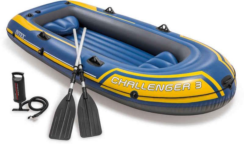 Intex Schlauchboot »Challenger 3«, (Set, -, mit 2 Paddeln und Luftpumpe)