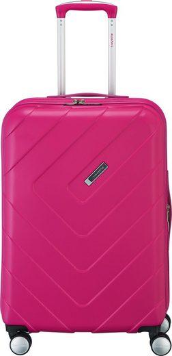 travelite Hartschalen-Trolley »Kalisto, 67 cm, pink«, 4 Rollen, mit Volumenerweiterung; aus der »freundin by travelite« Kollektion