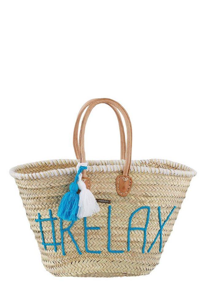 fabrizio® Strandtasche, mit modischer Stickerei | Taschen > Handtaschen > Strandtaschen | Ab | fabrizio®