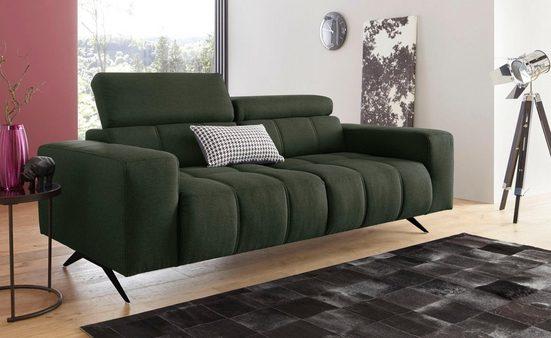 DOMO collection 2-Sitzer, wahlweise mit Kopfteilverstellung