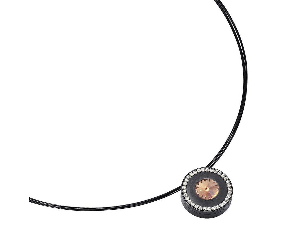 Heideman Kettenanhänger »Lumen II Schwarz« mit Wechselstein weiß und farbig | Schmuck > Halsketten > Ketten ohne Anhänger | Heideman