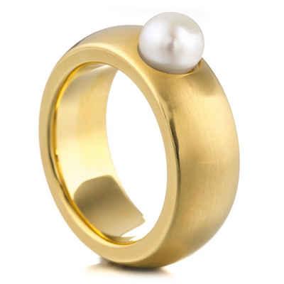 Heideman Perlenring »Coma 8 Gold« (1-tlg), mit echter Süßwasserperle