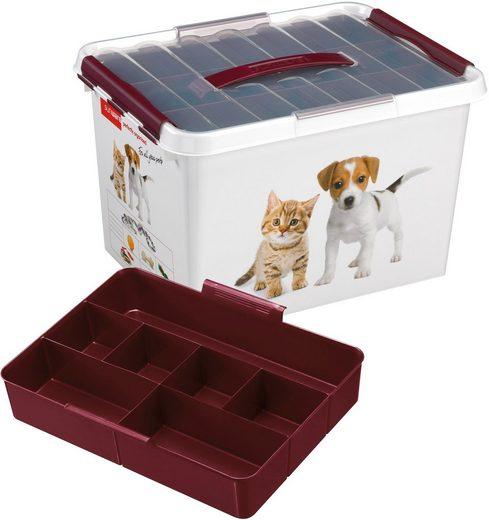 Sunware Aufbewahrungsbox »Q-Line« (1 Stück), Kunststoff, 22 Liter, mit Einsatz