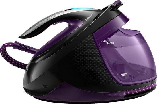 Philips Dampfbügelstation GC9675/80 PerfectCare Elite Plus, 1800 ml Wassertank, (2700 W, Optimal Temp, 7,7 bar Dampfdruck, 550 g/Min. Dampfsto) violett
