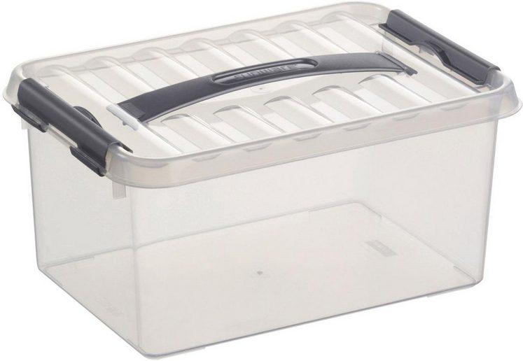 Sunware Aufbewahrungsbox »Q-line« (Set, 6 Stück), Kunststoff, 6 Liter, mit Griff