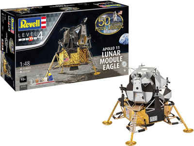 Revell® Modellbausatz »Apollo 11 Lunar Module Eagle«, Maßstab 1:48, Jubiläumsset mit Basis-Zubehör
