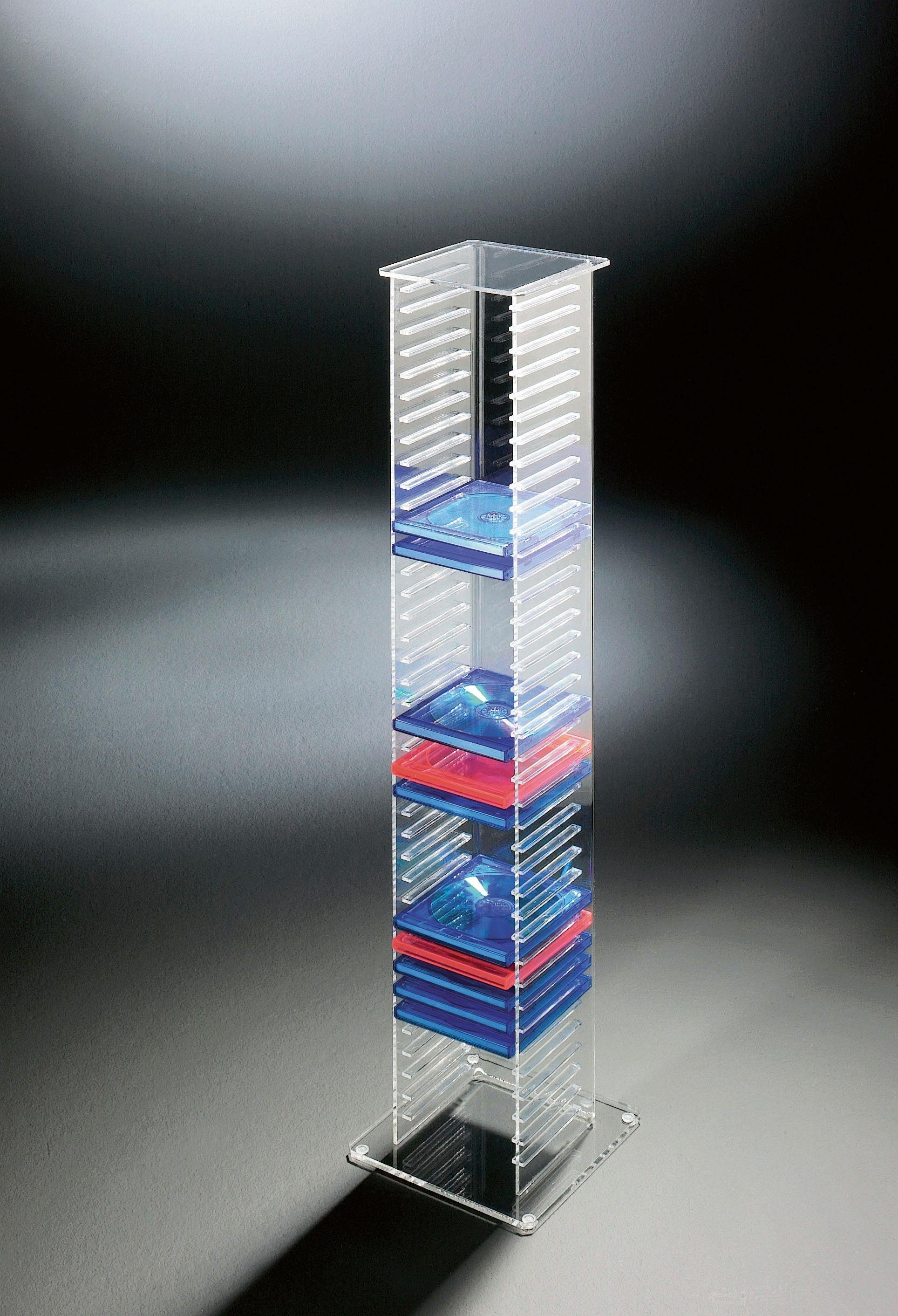 Ständer aus Acrylglas transparent CD Material Acryl klar